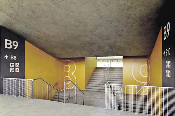 Nova sinalização do Mineirão Foto: BCMF/ Arquitetura