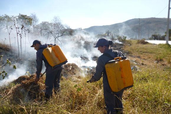 Bombeiros combateram as chamas / Foto:Divulgação
